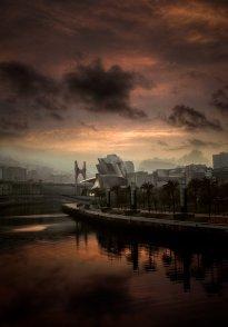 Guggenheim Bilbao al atardecer por Donibane