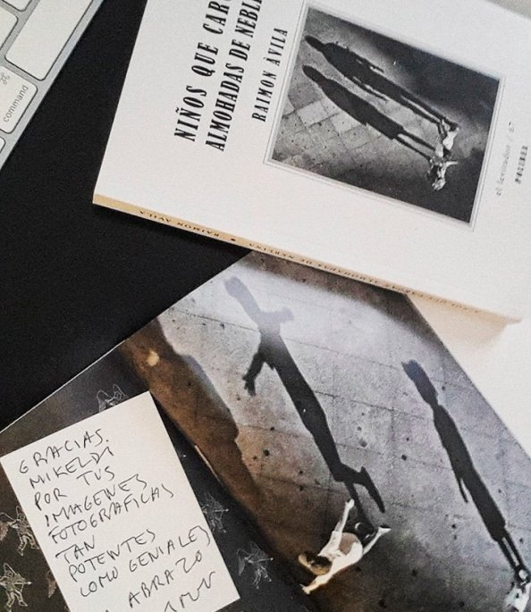 Libro de poesía NIÑOS QUE CARGAN ALMOHADAS DE NEBLINA de RAIMON ÀVILA de la editorial POLIBEA.