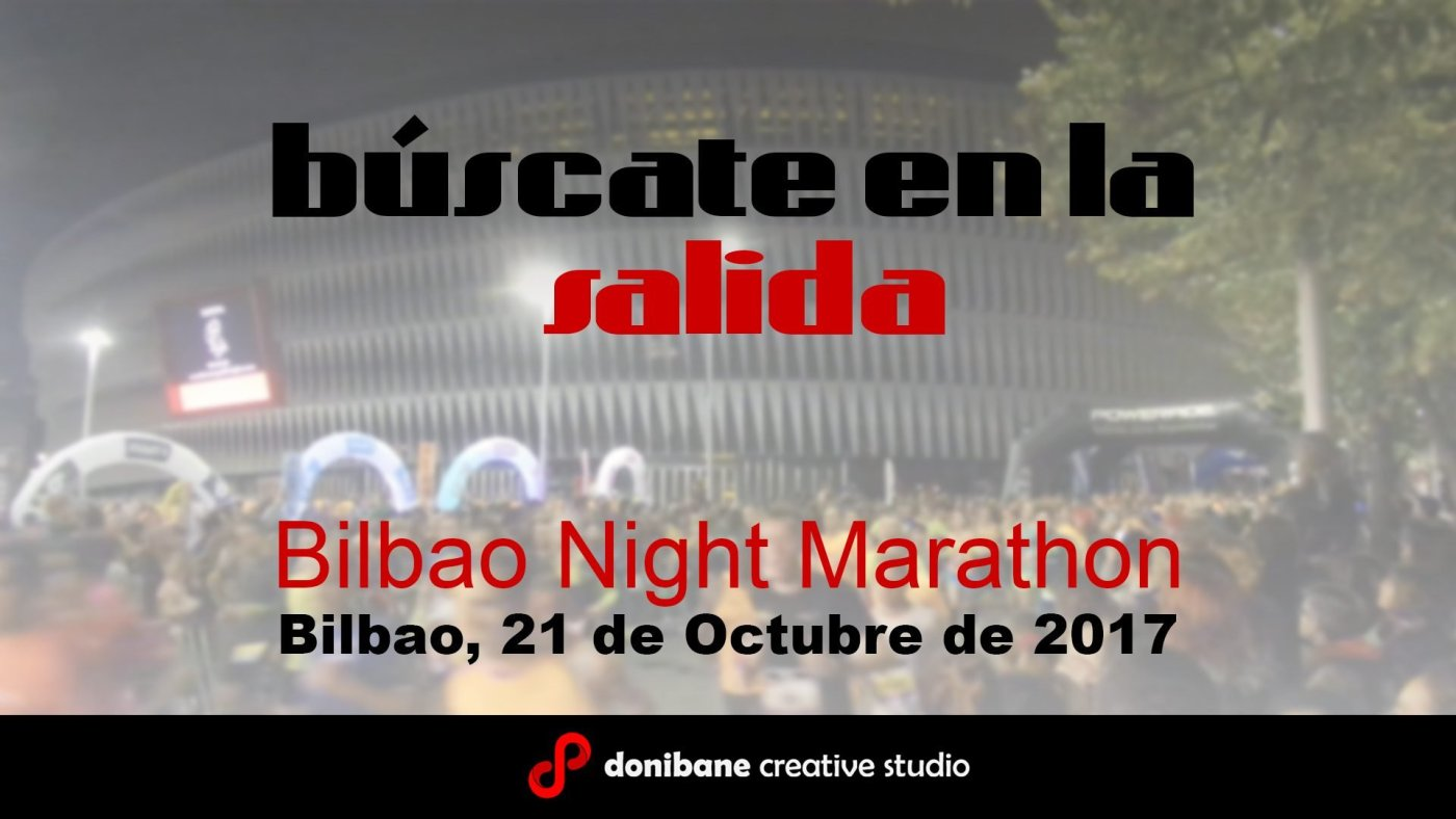 Salida Carrera Nocturna de Bilbao 2017 desde San Mames grabado por Donibane.