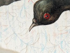 """""""Flying"""" - DETAIL 3, oil on canvas - 72 x 72 cm, 2009"""