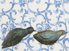 """Homing Pigeons"" - DETAIL 5, oil on canvas - 137 x 225 cm, 2008"