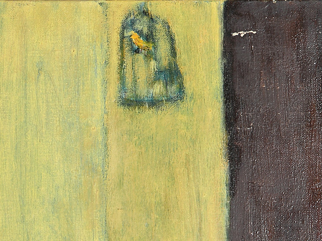 """""""Yellow Room"""" - DETAIL 3, oil on canvas - 50 x 50 cm, 2003"""
