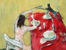 """""""Yellow Room"""" - DETAIL 4, oil on canvas - 50 x 50 cm, 2003"""