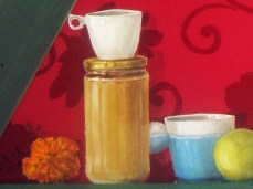 """Honey"" - DETAIL 2, oil on canvas - 75 x 75 x 75 cm, 2010"