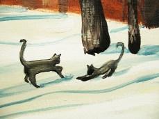 """Winter II"" - DETAIL 1, oil on canvas - 72 x 86 cm, 2012"