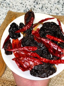 Plate of Dried Chiles