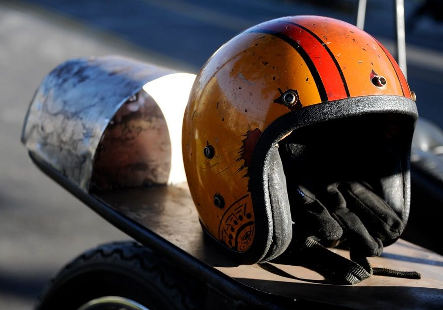 casco moto retro