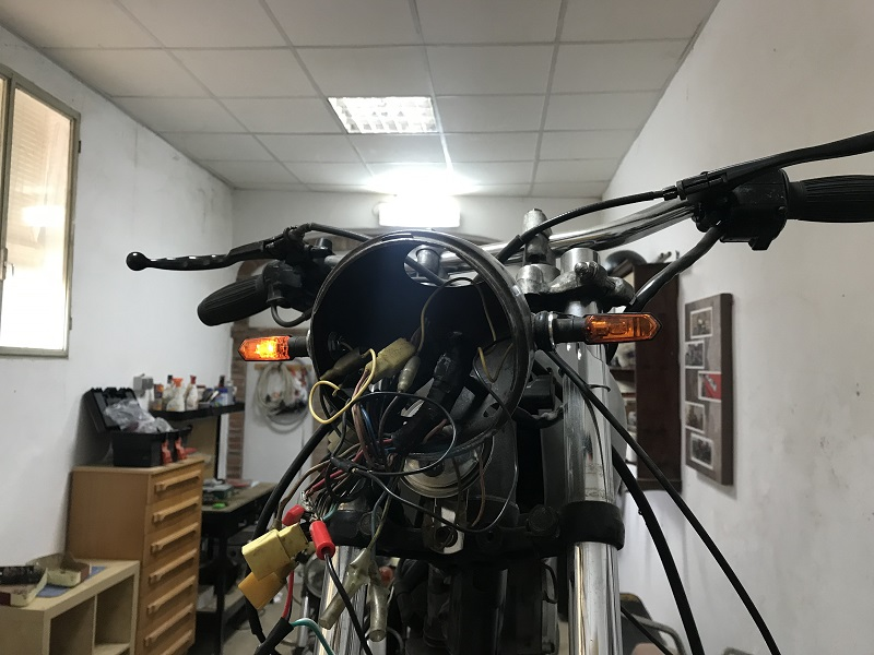 Sistema eléctrico Yamaha SR 125 cafe racer