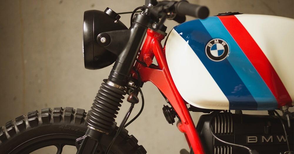Depósito tricolor - BMW R45 cafe racer CRD