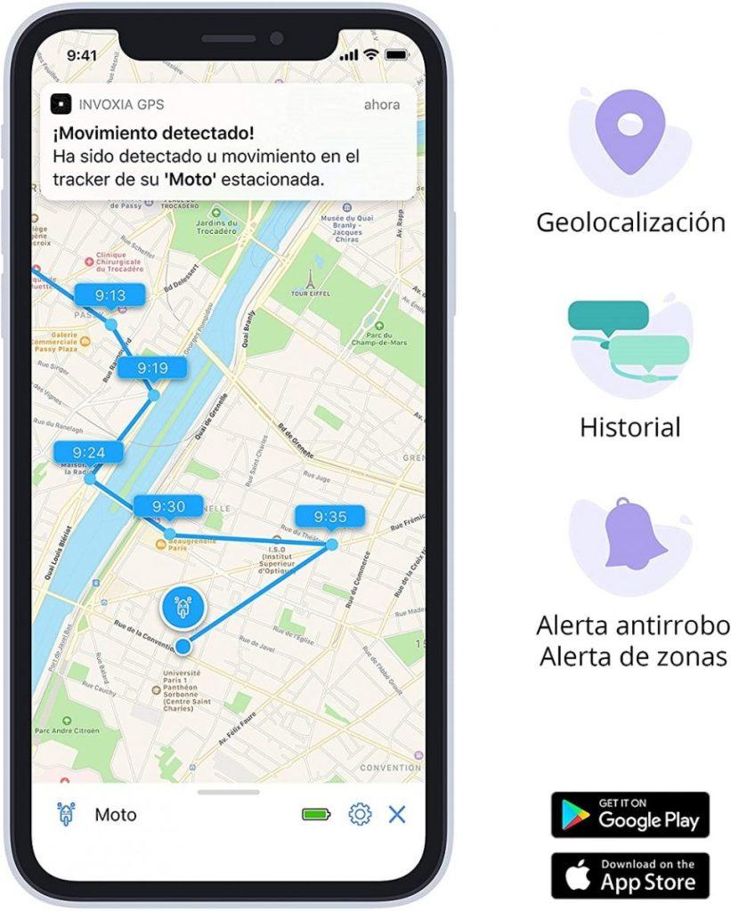 Alarma para moto con GPS