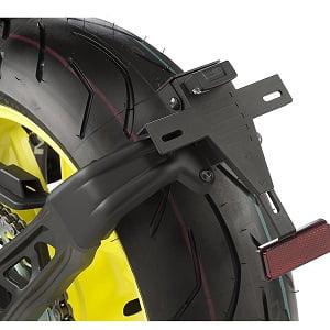 Portamatrículas sobre rueda moto 18