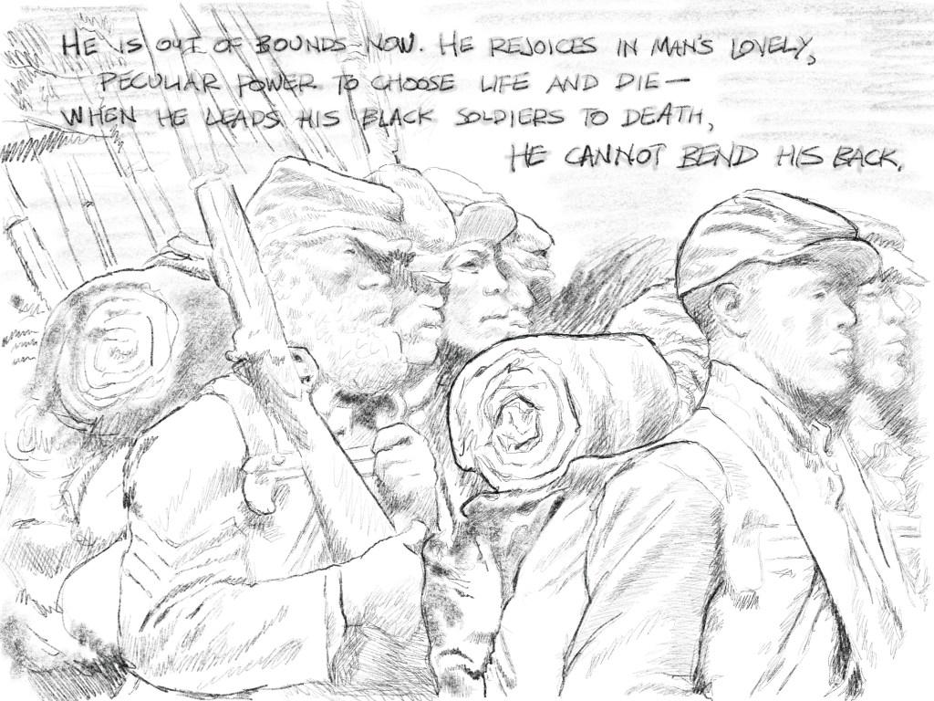 54th Massachusetts Memorial, sketch