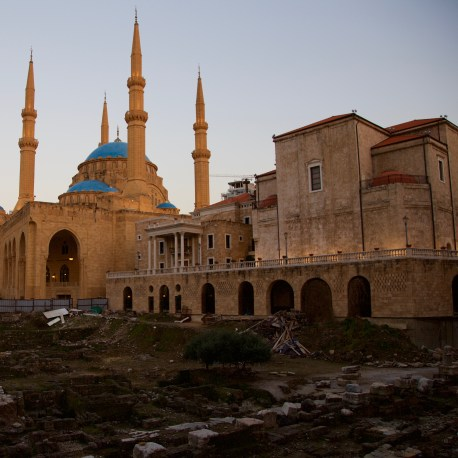 Mohammad Al-Amin Mosque St George Church Maronite Don Michael Hudson, PhD Beirut, Lebanon