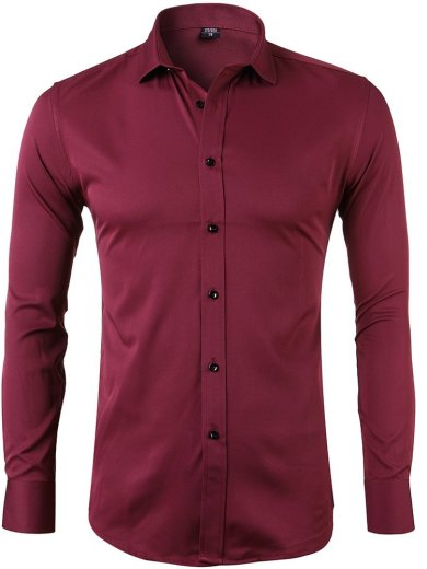 Don Minteiro Business Casual Plaid Slim Fit Valentine's Gift Long Sleeves Dress Shirts For Men