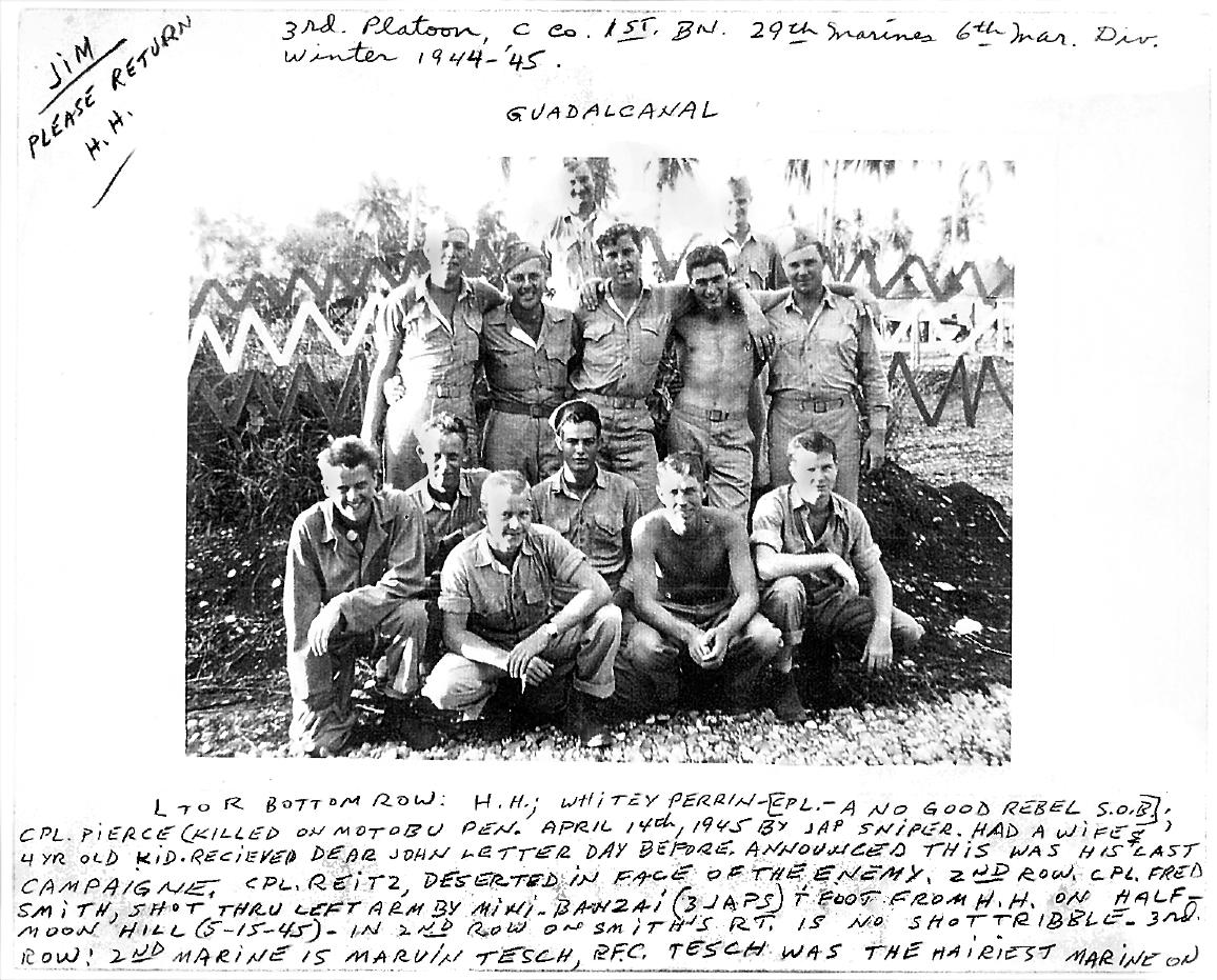 Harold Tayler Marine At Okinawa