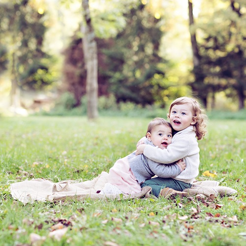 Baby Shooting mit Geschwister Muenchen