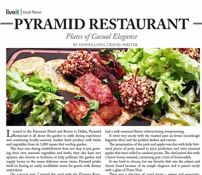 Pyramid Restaurant: Plates of Casual Elegance – LiveIt Texas