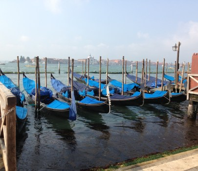 Gondola boats in Venice