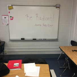 chalkboard with be radiant