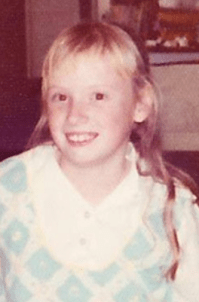 Author Donna A Heckler as a child