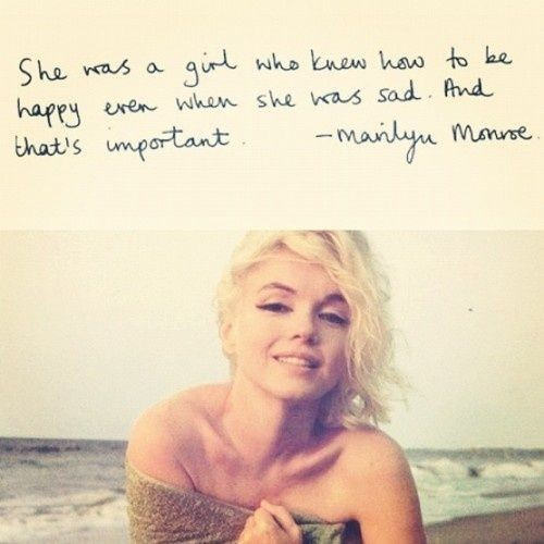 HAPPINESS IS A GIFT HOME-MADE/ Marilyn Monroe quotes/ quotes about happiness