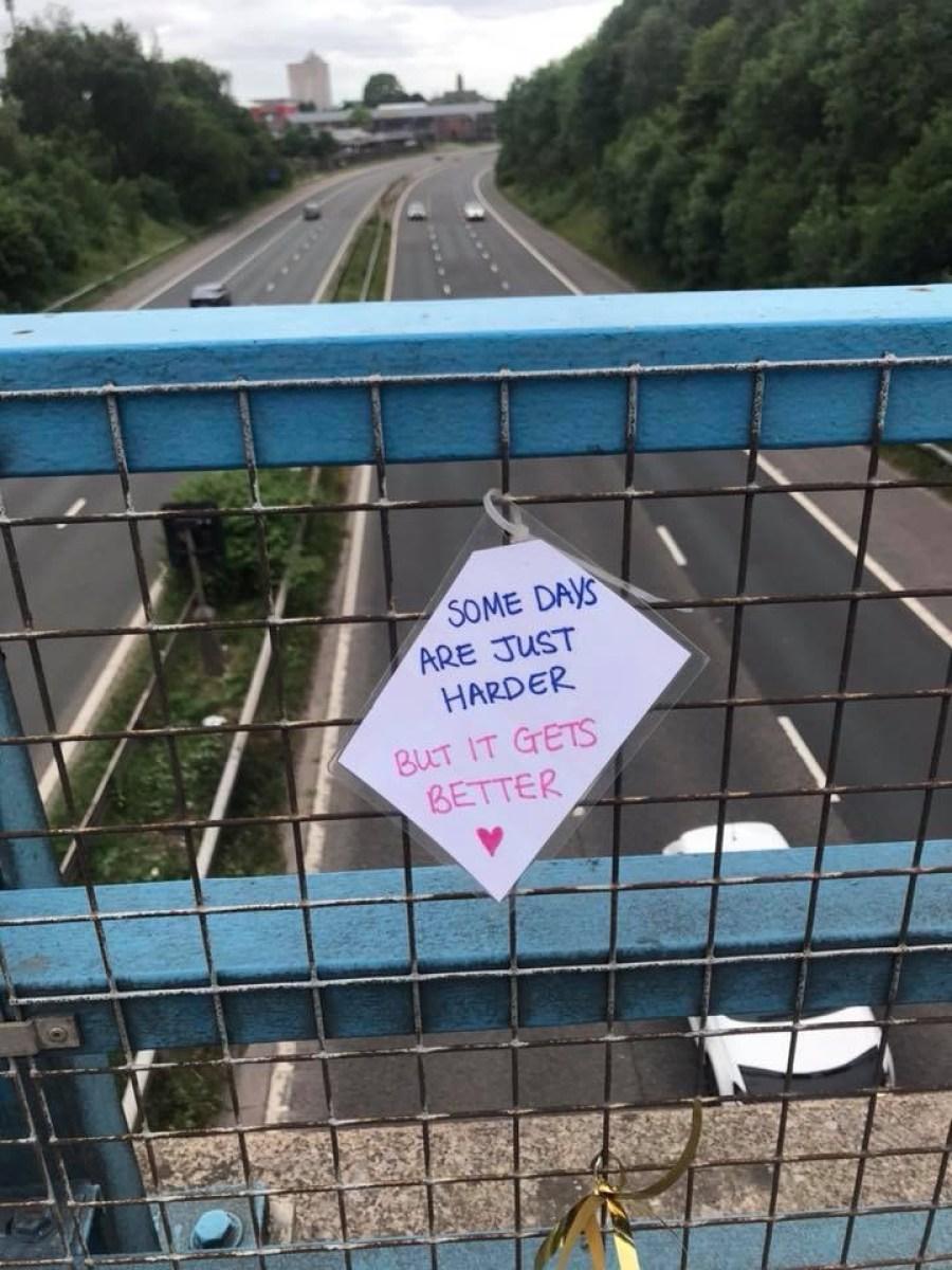 Suicide signs on bridges