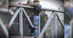 Suicide prevention/ Caroline flack/ man saved from jumping off bridge by good samaritans