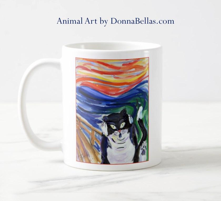 Kitty Scream Coffee Mug Cat Art