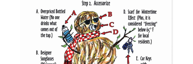 How to Make A California Seasonal Person Instructions Art Print