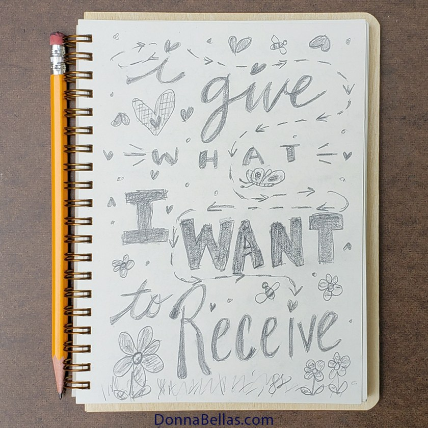 I Give what I want to Receive Pencil Art Drawing