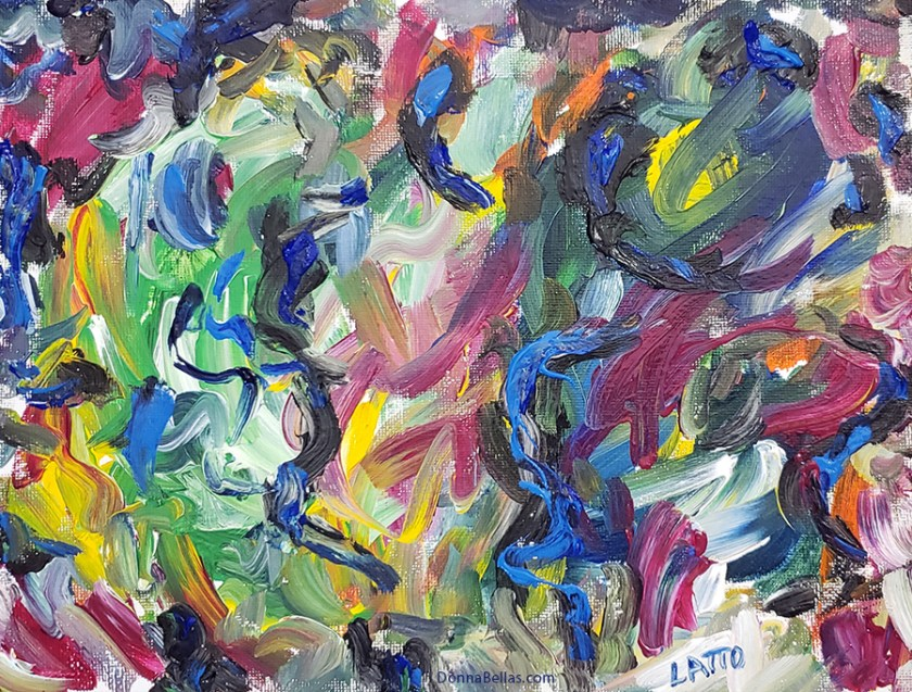 Abstract Art Painting 20 on Canvas (Wet Paint)