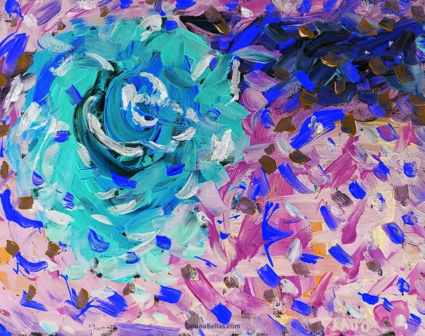Abstract Art Painting 21 on Canvas (Color Inverted)