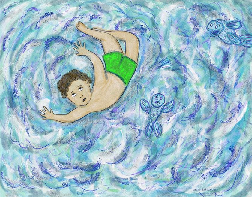 Surfing Silver Linings Narrative Art Illustration (Panel 2)