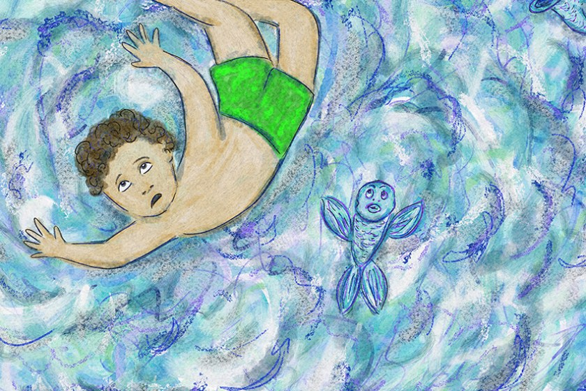 Surfing Silver Linings Narrative Art Illustration (Panel 2 Detail)