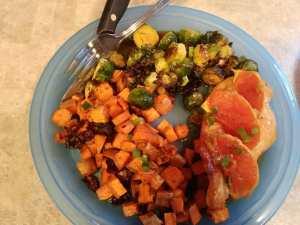 Orange Glazed Chicken finished meal