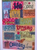 Using freestyle embroidery & Applique to write!
