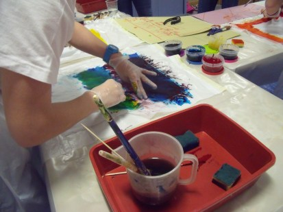 Lots of colour mixing