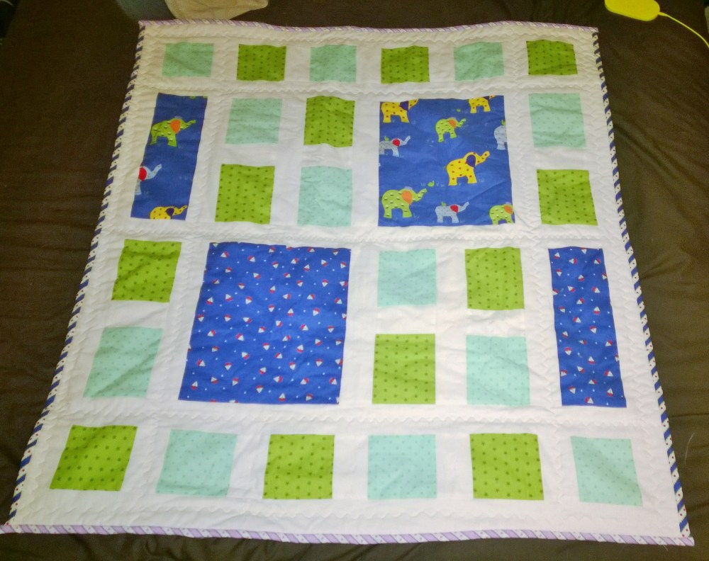 2 baby blankets and a few blocks (4/6)