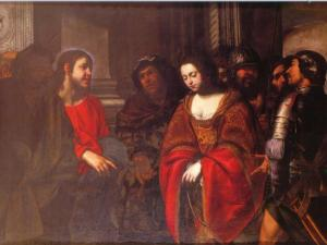 Jesus and the Adulteress - Pacecco De Rosa