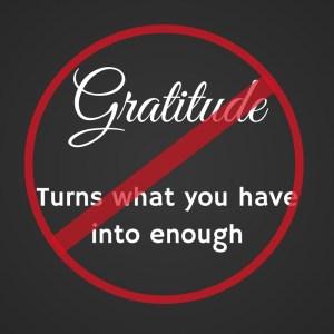 Too Much Gratitude