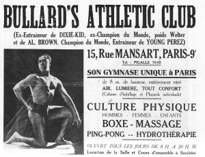 Eugene Bullard Athletic club ad