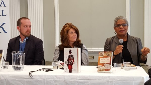 Le Fiction en France panel: Michael Keenan Gutierrez, Bonnie MacBird and Donna Drew Sawyer