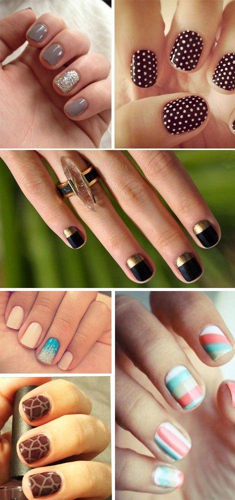 Nail Art Unghie Corte1