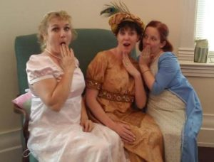 Sarah, Janette and me telling secrets at Tea Party