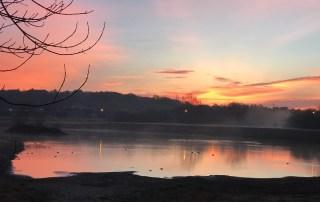 Sunset at Pond by Donna Hoyack