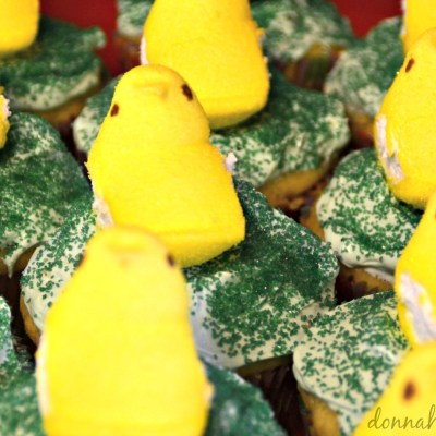 Easter Peep Surprise Cupcakes