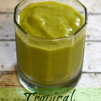 Tropical Fruit Packed Green Smoothie