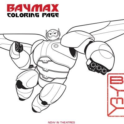 BIG HERO 6 – New Activity Sheets & Coloring Pages Now Available