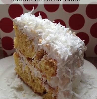Icebox Coconut Cake