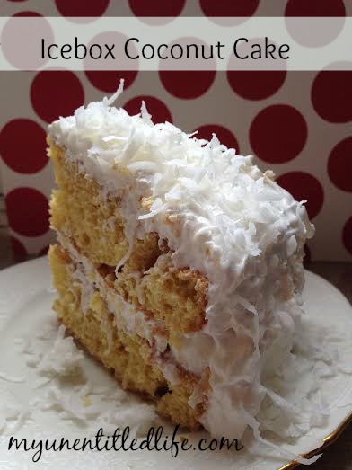 icebox-coconut-cake. 12 Days of Christmas – Icebox Coconut Cake #recipe